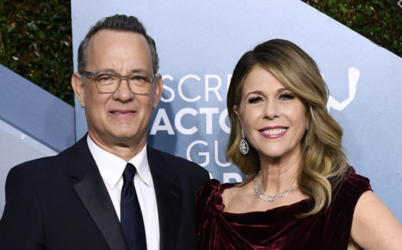 Tom Hanks e a esposa Rita Wilson: coronavírus chega a Hollywood - Divulgação