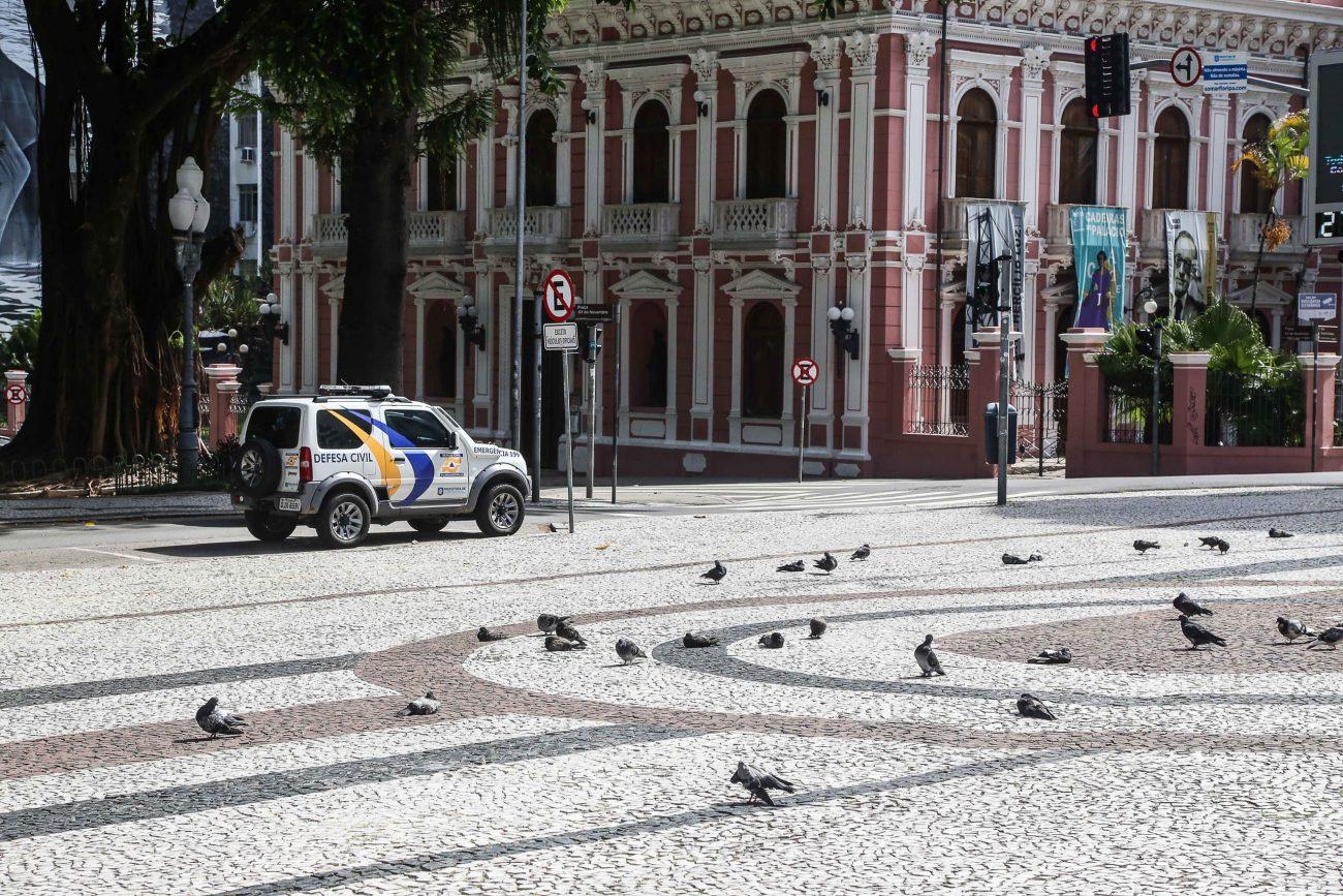 Centro de Florianópolis nesta terça-feira (24) de dia útil: efeito histórico da quarentena - Anderson Coelho/ND