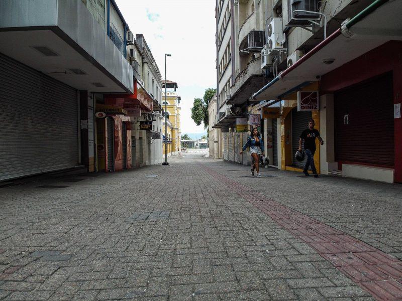 Centro de Florianópolis no dia 24 de março de 2020. - Anderson Coelho/ND