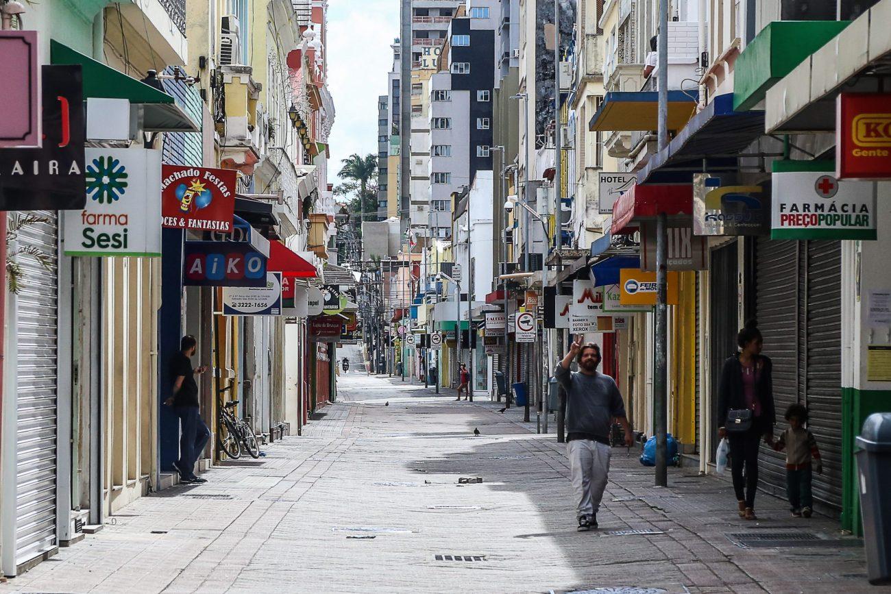 Centro de Florianópolis na terça-feira, 24 de março de 2020. Inacreditável - Anderson Coelho/ND