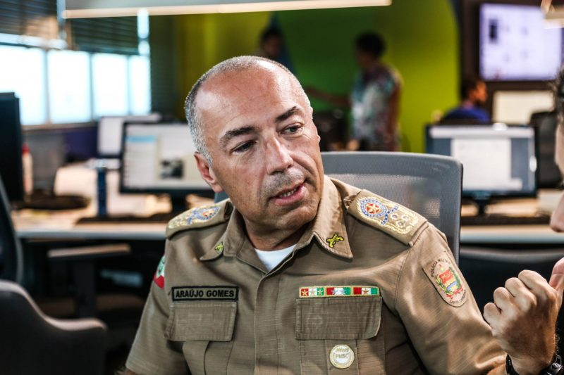 Ex-comandante da PM de SC, Araújo Gomes – Foto: Anderson Coelho/ND