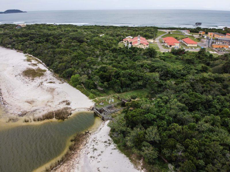 Estiagem na Lagoa do Peri impacta na captação de água da Casan – Foto: Anderson Coelho/ND