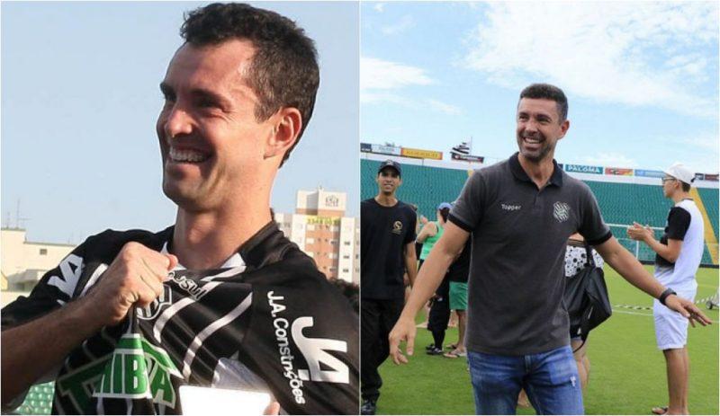 O ídolo Fernandes segue no clube após pendurar as chuteiras; hoje o ex-camisa 10 é gerente de futebol do Furacão - Reprodução