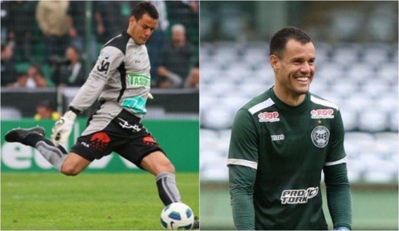 Wilson em ação pelo Figueirense | Hoje, aos 36 anos, o goleiro atua pelo Coritiba - Reprodução