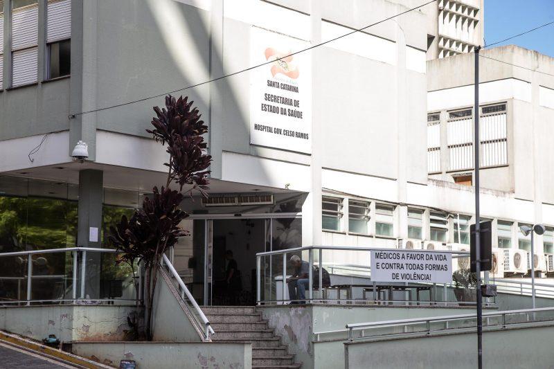 Homem segue internado no Hospital Governador Celso Ramos – Foto: Anderson Coelho/Arquivo/ND