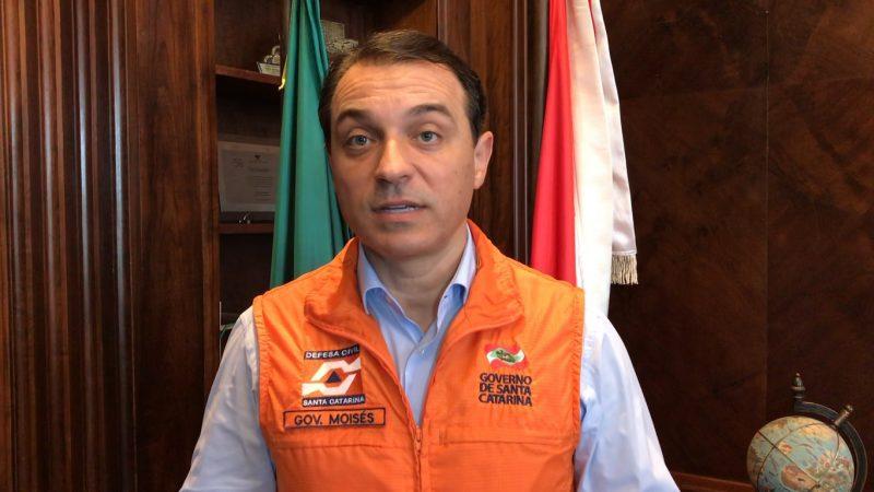Governador Carlos Moisés em vídeo neste domingo – Foto: Reprodução