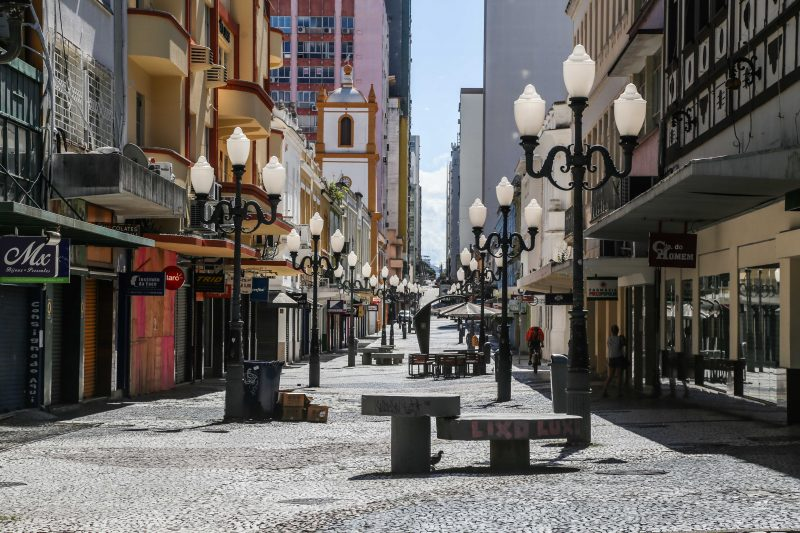 Medida de isolamento social deixou o Centro de Florianópolis vazio – Foto: Anderson Coelho/ND