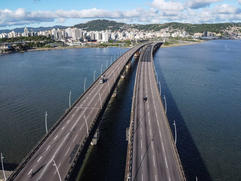 Pontes Pedro Ivo e Colombo Salles, em Florianópolis – Foto: Anderson Coelho/ND