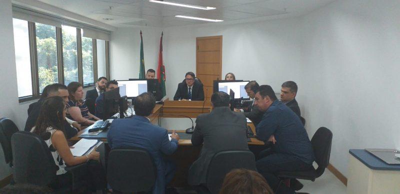 Audiência foi realizada na 4ª Vara da Justiça Federal na Capital – Foto: Cristiano Rigo Dalcin/ND