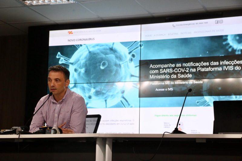 Casos foram confirmados pelo secretário de Estado da Saúde, Helton de Souza Zeferino – Foto: Anderson Coelho/ND