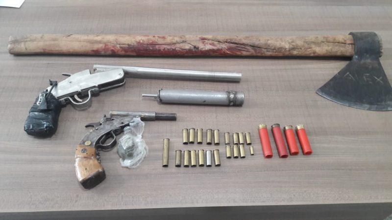 Armas e munições foram encontradas na casa dos dois – Foto: Divulgação/Polícia Civil/ND