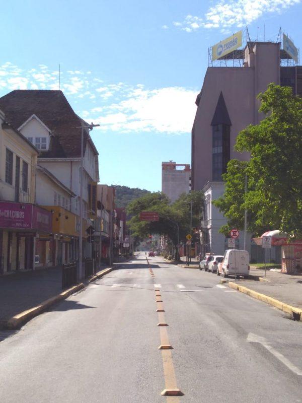 Centro de Joinville nesta quinta-feira - Sabrina de Aguiar/NDTV