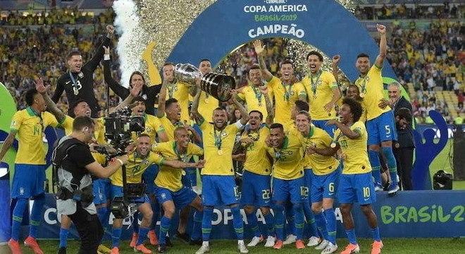 Brasil venceu a Copa América atuando em casa em 2019 – Foto: CBF/Divulgação