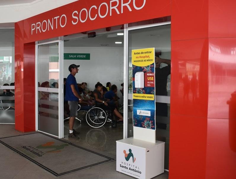 Paciente causa depredação no Hospital Santo Antônio, em Blumenau – Foto: HSA/Arquivo