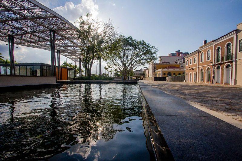 Remodelado Largo da Alfândega, em Florianópolis em uma sexta-feira de quarentena - Foto Flavio Tin/ND