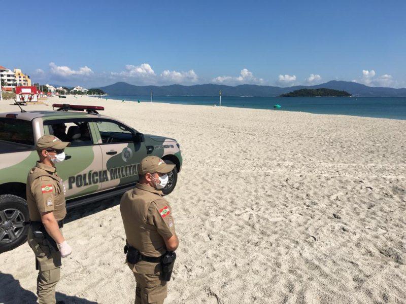 Praias monitoradas após a determinação de proibição de acesso as praias. - Eduardo Cristófoli/NDTV/ND