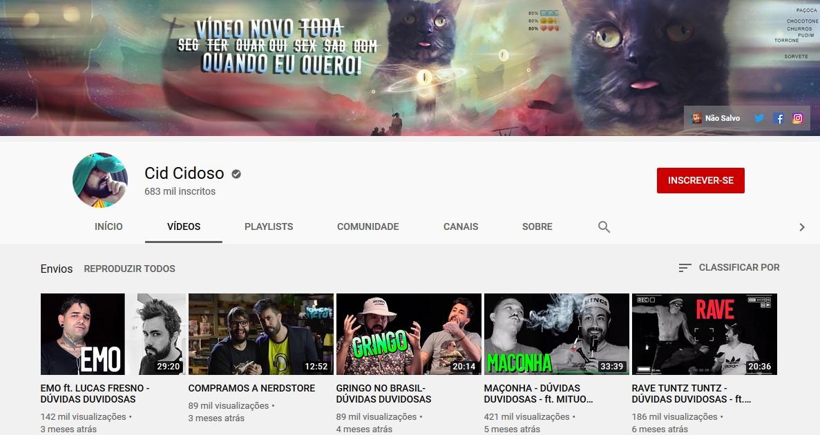 Cid Cidoso (https://bit.ly/3byraY7) - Credit: Play YouTube 33Giga/NA