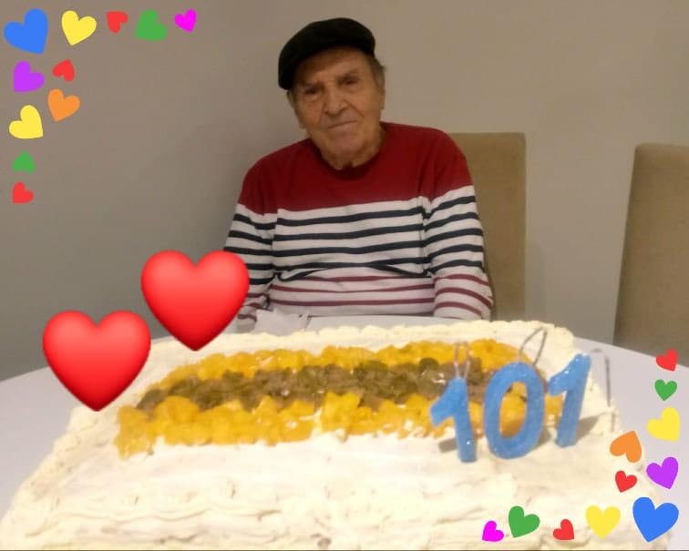 """Luiz Schifini,101 anos, morreu no dia 7 de abril no Hospital de Caridade em Florianópolis. Segundo a prefeitura de Florianópolis, ele estava internado na UTI desde o dia 29 de março. Não há informações sobre a identidade do homem, nem sobre a existência de comorbidades. """"Amou a vida e viveu intensamente"""" escreveu a filha, Carla Schifini, no memorial publicado no site Inumeráveis. Luiz morreu na semana em que completaria 102 anos. - Reprodução Redes Sociais/ND"""