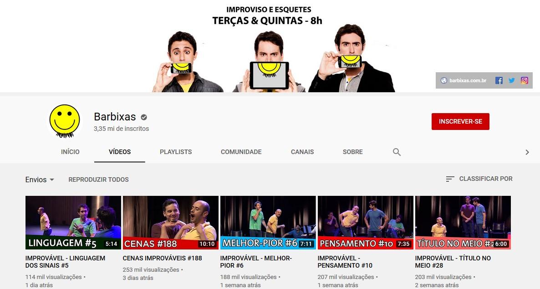 Barbixas (www.youtube.com/videosimprovaveis) - Credit: Play YouTube 33Giga/NA