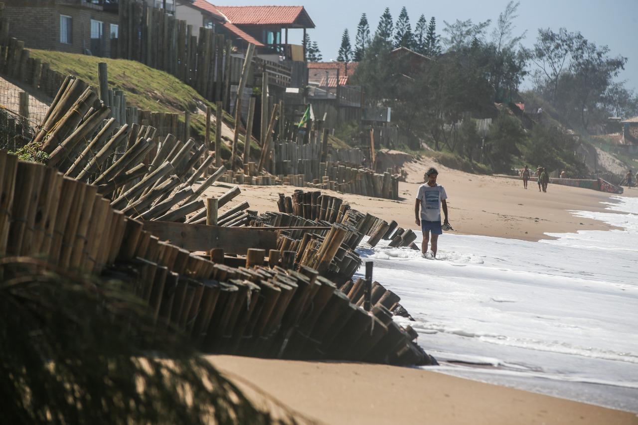 Orla de Florianópolis foi atingida por ciclone, que causou estragos - Anderson Coelho/ND