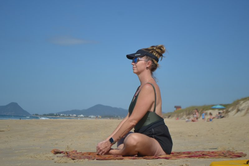 Prática de atividade, seja qual for, a luz do sol, está liberada na praia. - Diogo de Souza/ND