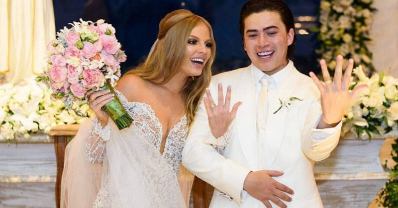 Whindersson Nunes e Luísa Sonza durante evento de casamento