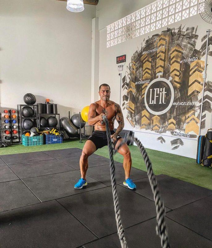 Marquinhos Pedroso treina e sonha voltar a defender o Figueirense – Foto: Acervo pessoal/AVassessoria