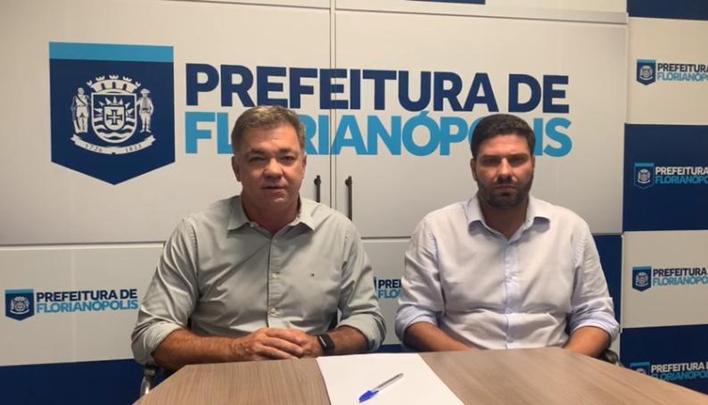 Prefeito Gean Loureiro e presidente da Câmara de Vereadores, Fábio Braga – Foto: Reprodução/ND