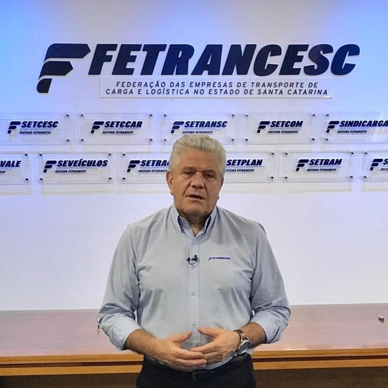 Presidente da Fetrancesc fala em fim do egoísmo – Foto: Divulgação/ND
