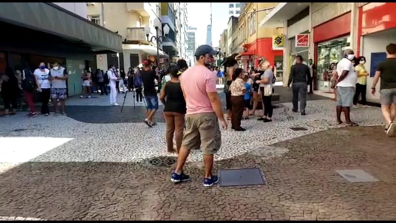 Reabertura do comércio fez movimento de pessoas aumentar no Centro da Capital - Guarda Municipal/Divulgação/ND