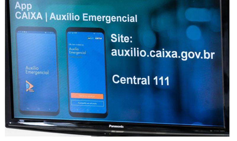 Lançamento do aplicativo CAIXA|Auxílio Emergencial – Foto: Marcello Casal Jr/Agência Brasil/Divulgação/ND