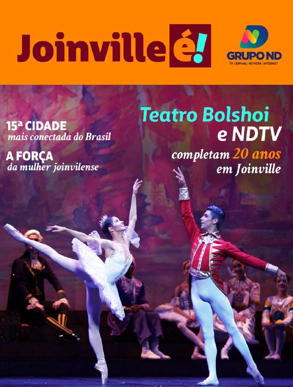 Capa – Revista Joinville É – Foto: Reprodução/NDTV