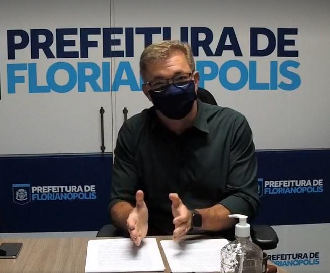 Prefeito de Florianópolis Gean Loureiro (DEM) – Foto: Facebook/Divulgação