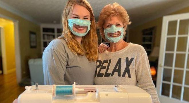 Máscara para a comunidade de deficientes auditivos em tempos de Covid-19 – Foto: Reprodução/Lex18