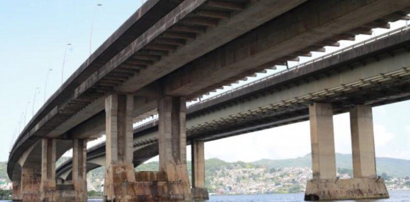 Pontes que fazem a ligação entre a Ilha e o Continente, em Florianópolis, vão passar por obras de recuperação – Foto: Júlio Cavalheiro/Divulgação/Secom/ND