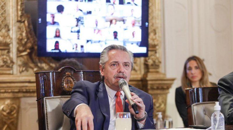Alberto Fernández anunciou que está com Covid-19 – Foto: Presidência da Argentina/Fotos Públicas