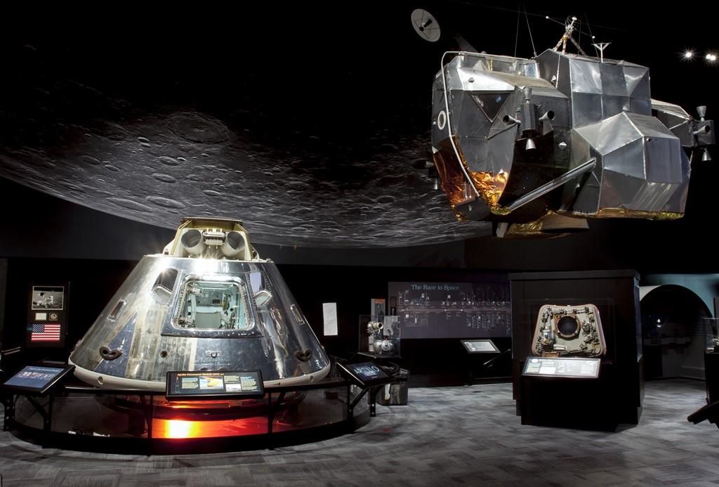 Capsula das missões Apollo e módulo lunar - Divulgação/The Museum of Flight - Divulgação/The Museum of Flight/Rota de Férias/ND