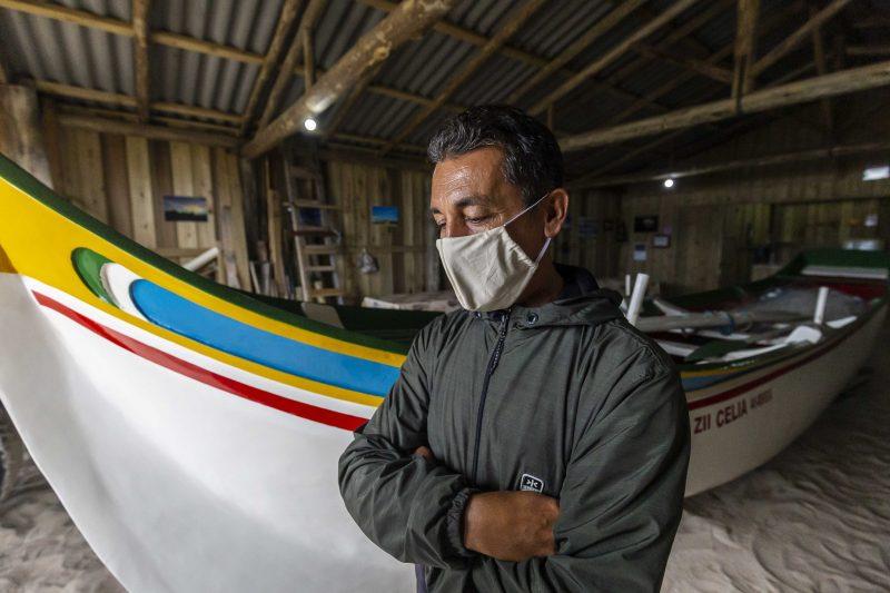 Pedro Inácio, de 55 anos, patrão do Rancho de Pesca Aparício do Deca - Anderson Coelho/ND