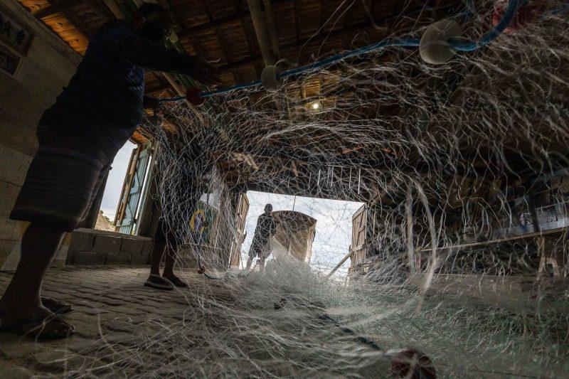 Pescadores se preparam para a safra da tainha, que teve início no dia 1º de maio - Anderson Coelho/ND