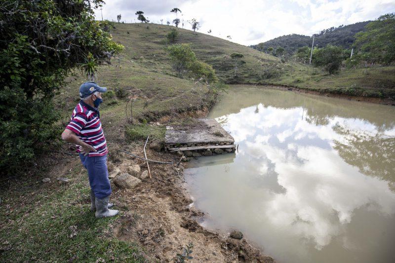 Estiagem preocupa produtores em São José, como Teófilo Vargas – Foto: Anderson Coelho/ND