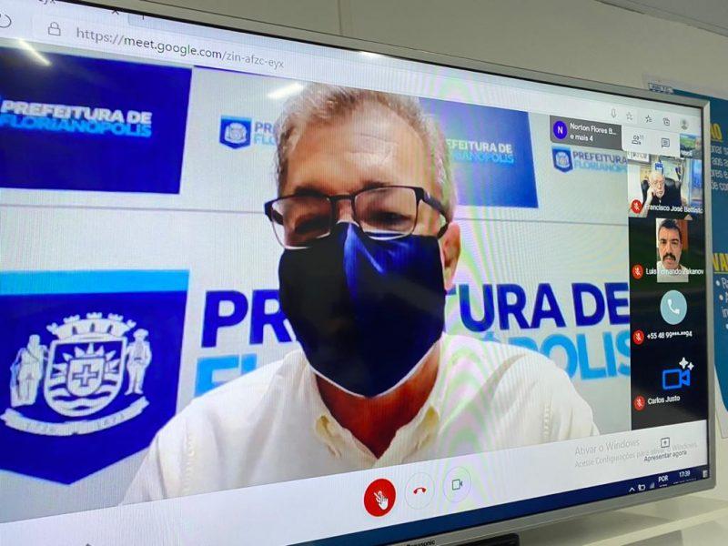 Gean Loureiro (DEM) realizará procedimentos médicos para tratar possíveis complicações da Covid-19 – Foto: Avaí FC/divulgação