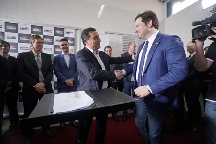 Relações próximas: Diego Enke na presidência do Porto foi indicação do governador Carlos Moisés – Foto: Divulgação ND
