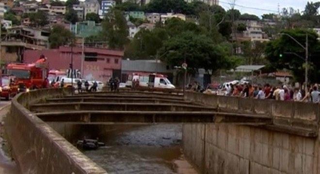 Estudo mapeou presença do coronavírus no esgoto lançado no rio Arrudas – Foto: Reprodução/Record TV Minas