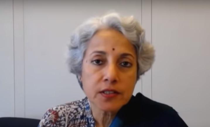Soumya Swaminathan disse que quando vacina for aprovada, prioridade será para profissionais na linha de frente como médicos e também pessoas mais vulneráveis – Foto: Reprodução/Youtube