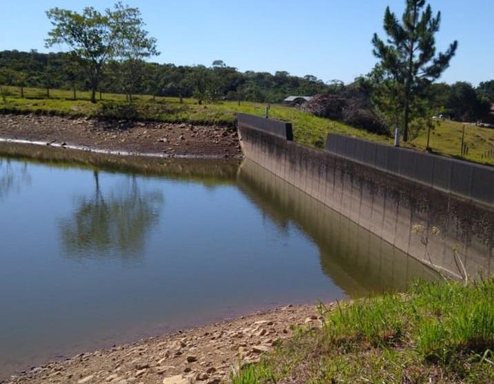 Reservatórios estão com nível abaixo da capacidade, em Cocal do Sul – Foto: Divulgação/ND