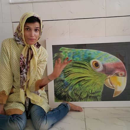 Mas não são apenas rostos que fazem a arte de Fatemeh. A artista também ilustra maravilhosamente bem animais e paisagens - Reprodução/Instagram
