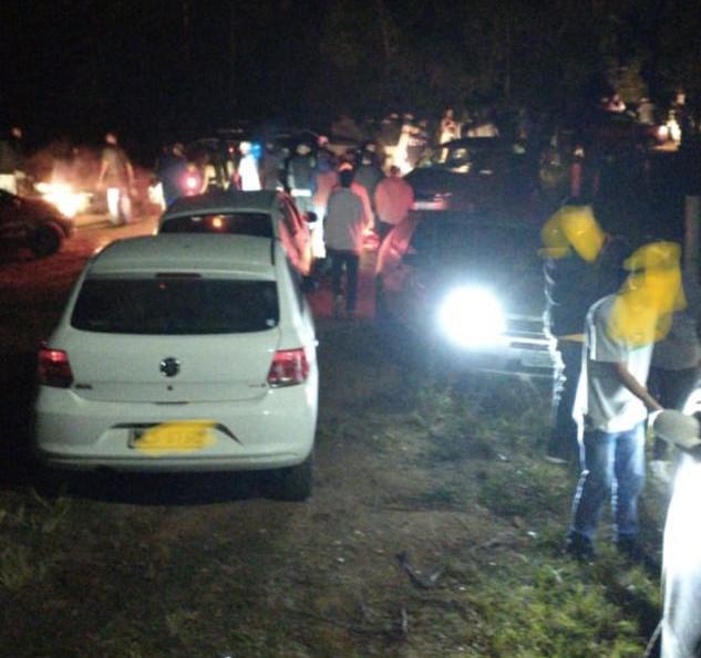 Festa ocorreu na Estrada Geral Linha Mesquita, no bairro Sertão dos Corrêas, em Tubarão – Foto: Polícia Militar/Divulgação ND