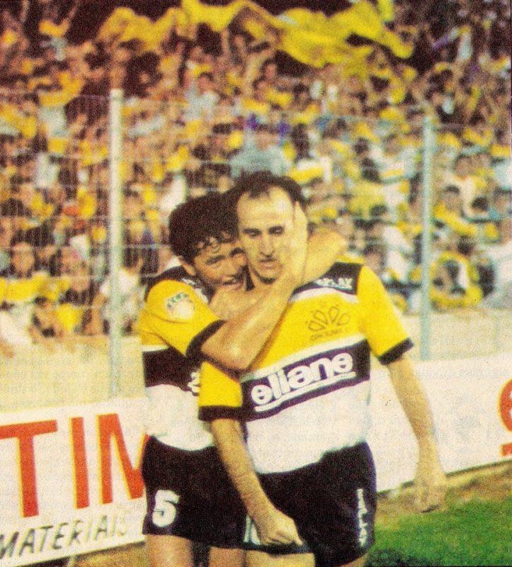 Grizzo foi mais um que fez parte da histórica equipe campeã da Copa do Brasil de 1991. Além disso, o ex-camisa 10 também foi responsável pelo tricampeonato estadual de 1989 a 1991. Assim como também fez parte da equipe que foi até as quartas da Copa Libertadores de 1992. Engana-se quem acha que a história de Grizzo acabou quando ele pendurou as chuteiras, desde 2016, ele compõe a comissão técnica do Criciúma. - Reprodução/Blog do Gilberto Custódio/ND