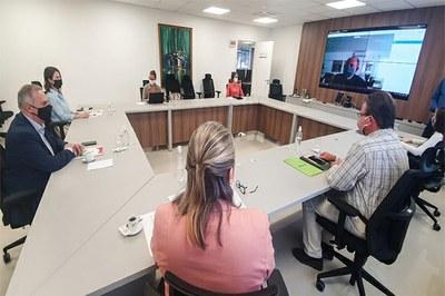 Acafe e Ampesc receberam recomendação do Ministério Público, em reunião nesta terça-feira (5) – Foto: Divulgação/MPSC