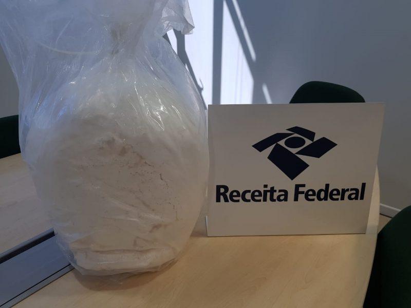 Droga foi encontrada junto com outras mercadorias importadas da China – Foto: Receita Federal/Divulgação/ND